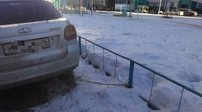 Противоугонная «система» по-русски (3 фото)