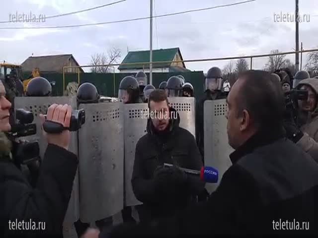 Для усмирения цыган в поселок Плеханово стянули ОМОН и СОБР