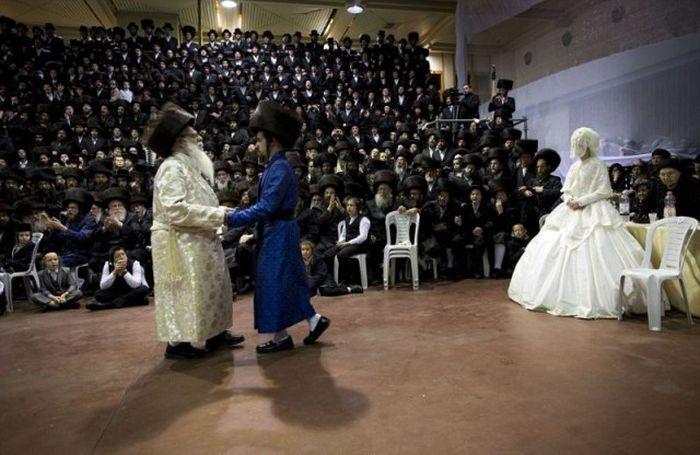 Традиционная иудейская свадьба в Израиле (22 фото)