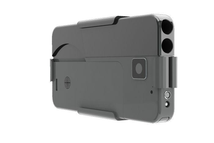 Пистолет для самообороны, замаскированный под смартфон (3 фото)