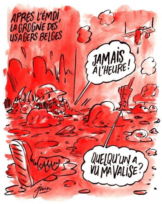 Карикатуры Charlie Hebdo на тему брюссельских терактов (3 фото)