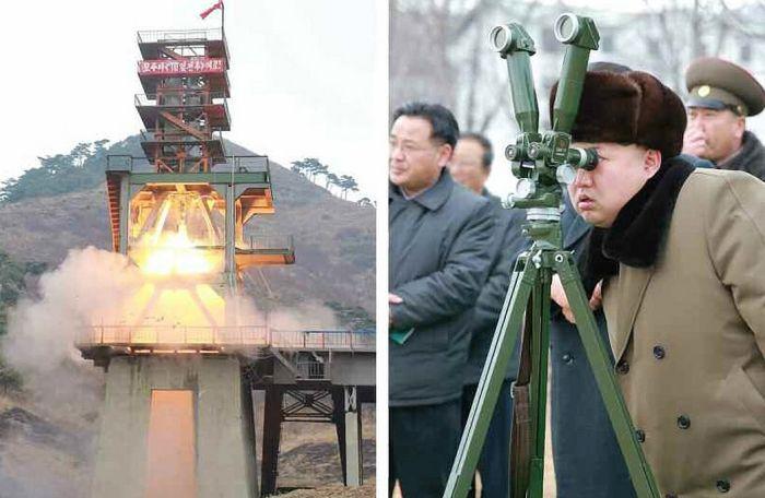 Ким Чен Ын принимает испытания по степени защиты боеголовки (6 фото)