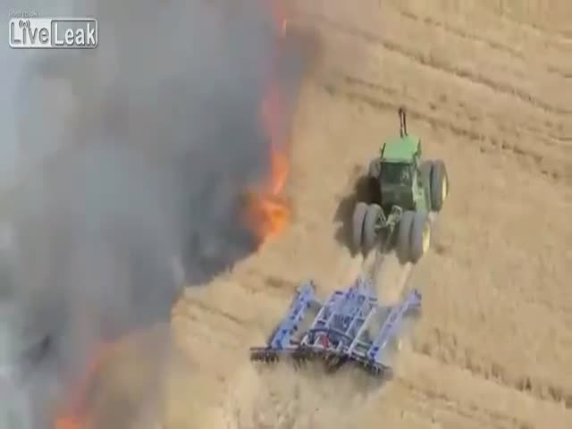 Фермер спасает посевы