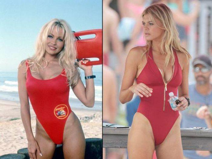 Модель Келли Рорбах исполнила роль Памэлы Андерсон в «Спасателях Малибу» (24 фото)