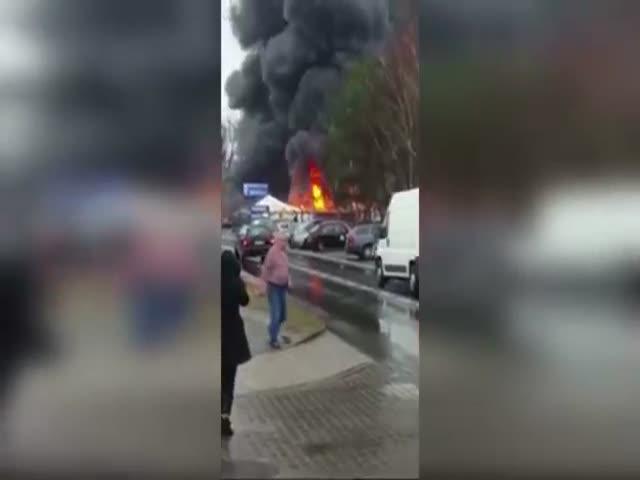 Взрыв в магазине пиротехники в Германии