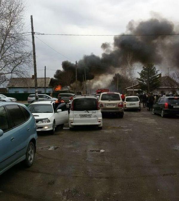 В Приморье упал штурмовик Су-25 (5 фото + 2 видео)