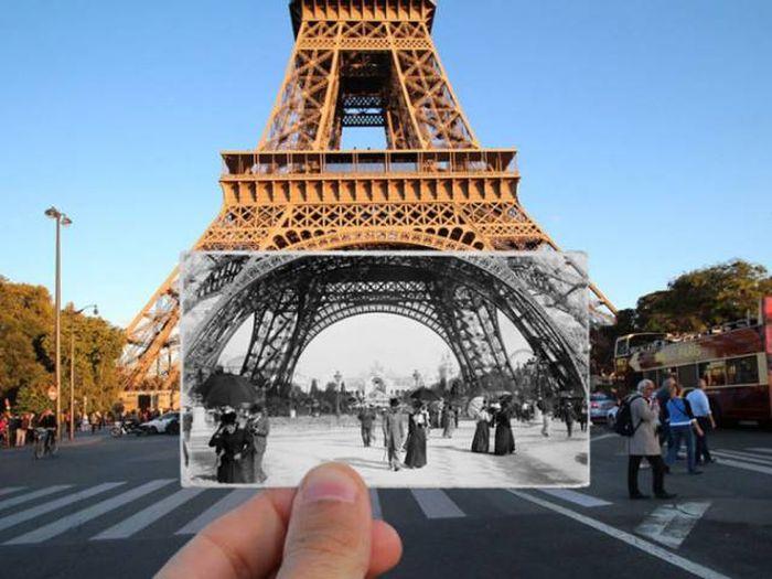Прогулка по улицам Париже в компании ретро фотографий (16 фото)