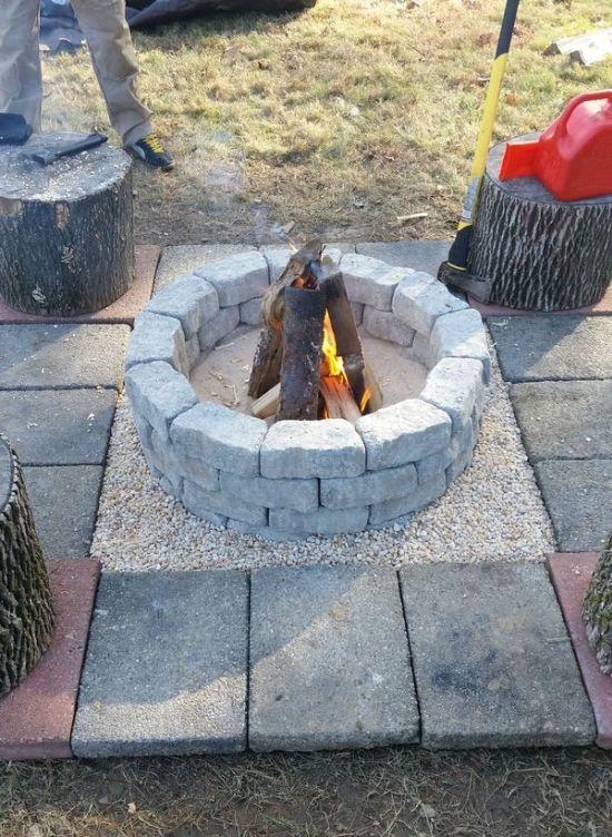 Уютное дачное кострище своими руками (10 фото)