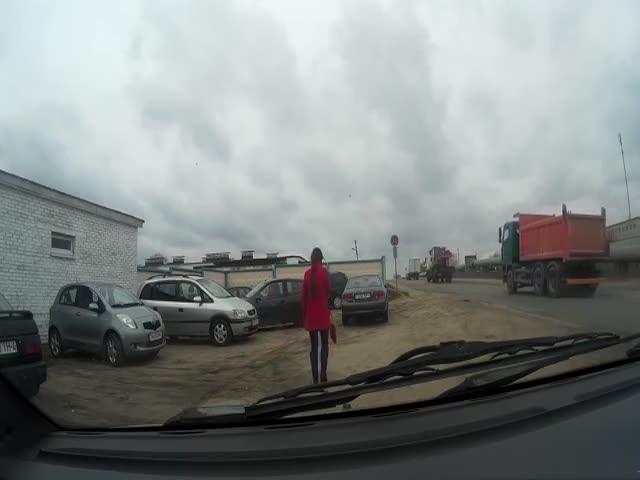 Женщины на парковке
