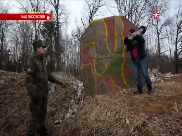 Бетонная стена не устояла против РПГ-28 «Клюква»