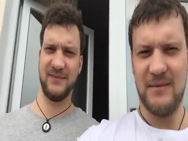 Братья-близнецы незаметно поменялись лицами