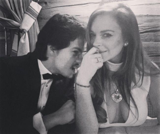 СМИ сообщили о помолвке Линдси Лохан с сыном российского миллиардера Дмитрия Тарабасова (6 фото)