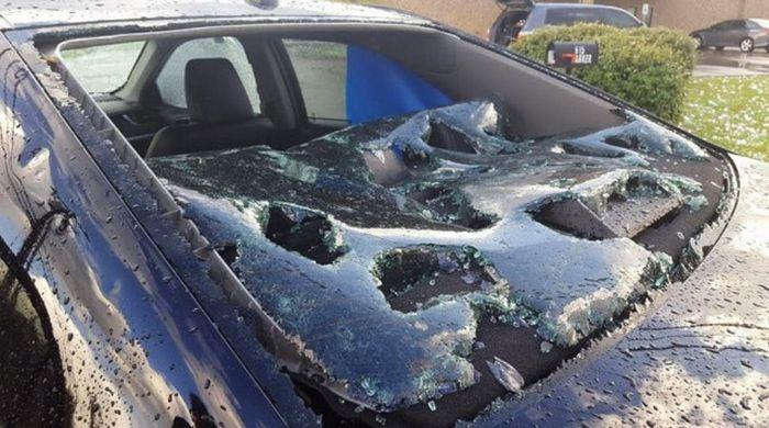 Техас пострадал от крупного града (11 фото)