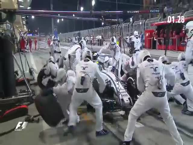 Невероятно быстрый пит-стоп на Гран-при Бахрейна
