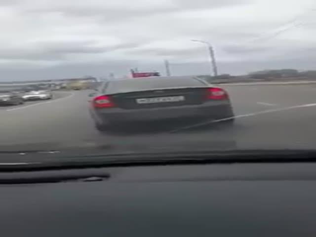 Дорожный конфликт в Хабаровске