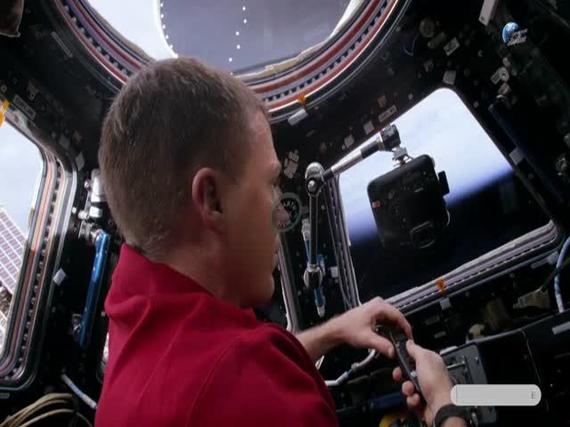 Полярное сияние с борта МКС