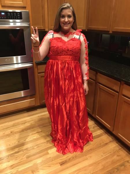 Выпускное платье оказалось совсем не таким (3 фото)