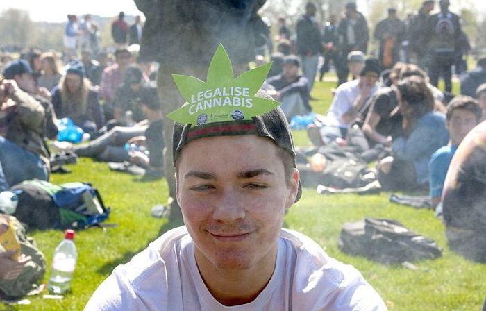 Британские любители марихуаны отметили «День марихуаны» (16 фото)