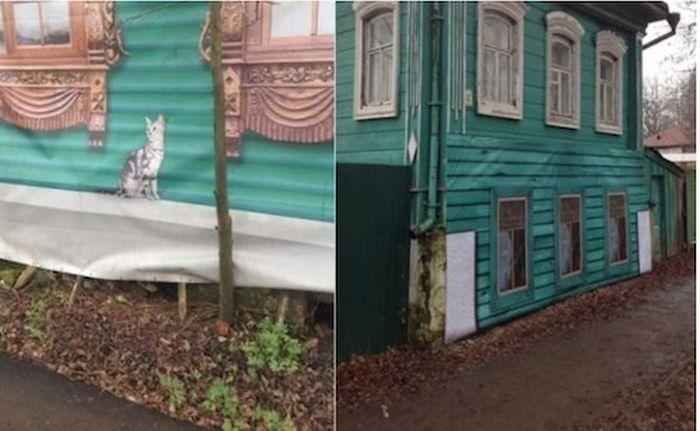 В Суздале появился «липовый» сквер (3 фото)