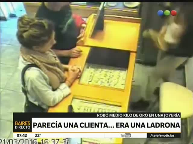 Ловкое ограбление ювелирного магазина