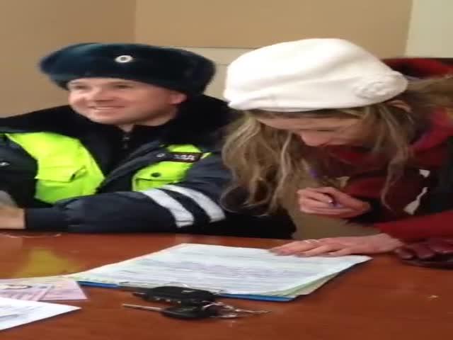 Девушка «под солью» в отделении полиции