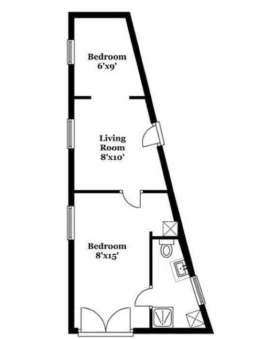 Небольшой уютный дом в форме треугольника за полмиллиона долларов (13 фото)