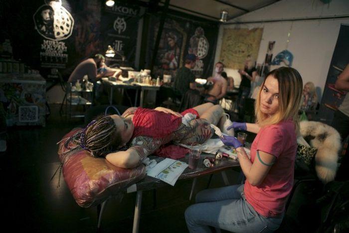 Международные фестивали татуировок в Сочи и Шанхае (23 фото)
