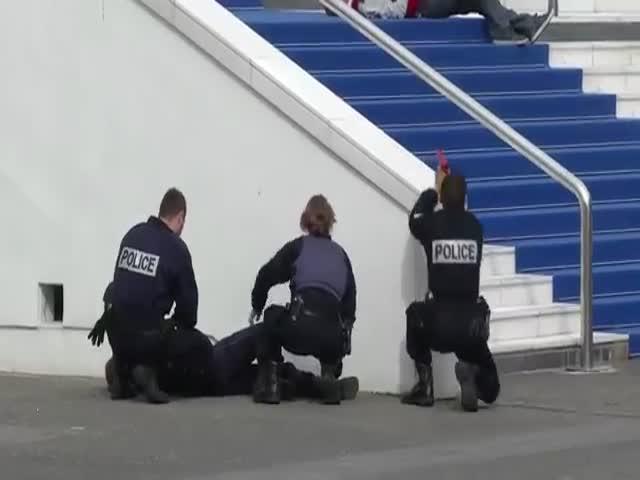Полиция Канн провела тренировку на случай теракта