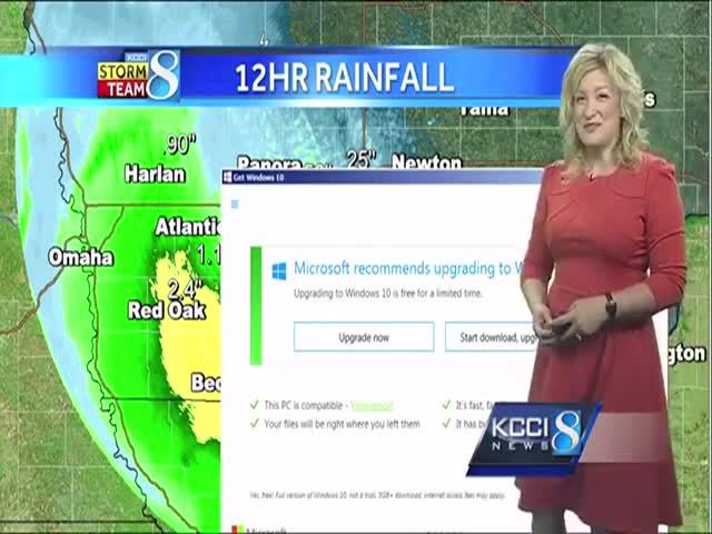 Обновление операционной системы прервало выпуск прогноза погоды