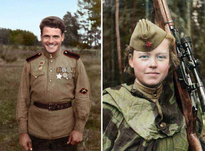 Раскрашенные фотографии России и СССР 1900 - 1965 гг. (67 фото)