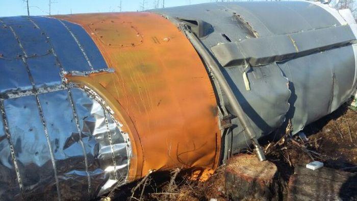 Обнаружены отработанные фрагменты ракеты-носителя «Союз-2.1а» (3 фото)