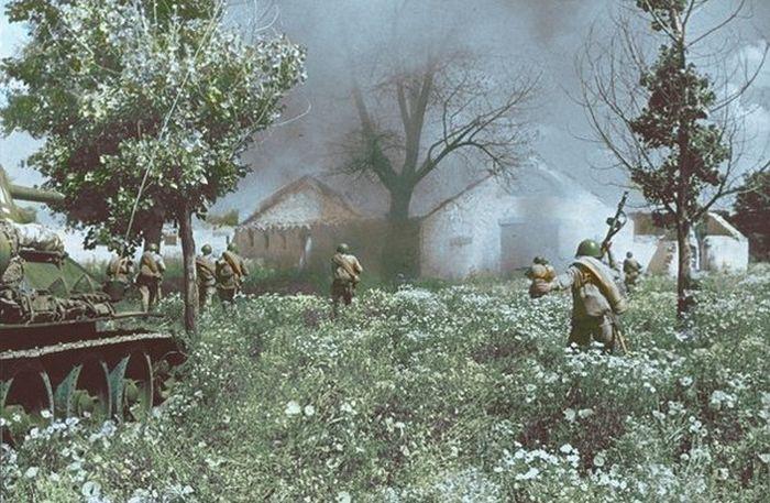 Цветные фото времен Второй мировой войны. Часть 2 (25 фото)