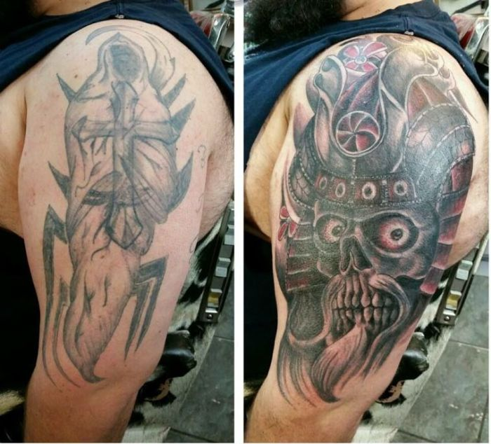 Исправление нежелательных татуировок (33 фото)