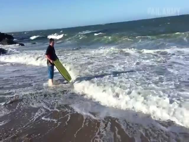 Подборка фейлов с любителями серфинга