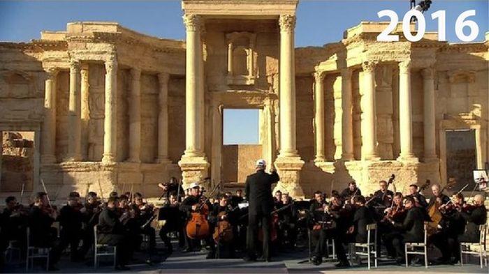 Пальмира в 2015 и сейчас (2 фото)
