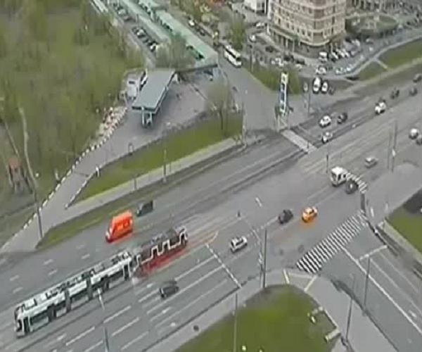 В Москве произошло лобовое столкновение двух трамваев