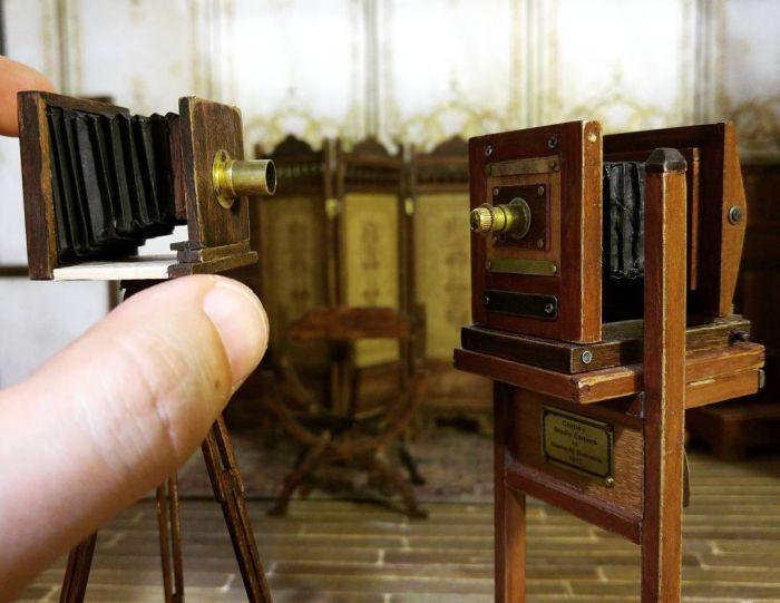 Диорама старой фотостудии (17 фото)