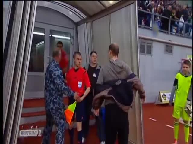 Украинский футболист Роман Зозуля пнул судью после матча Кубка Украины