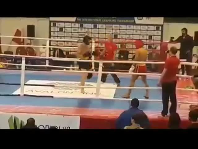 Массовая драка на чемпионате Европы по кунг-фу и ушу