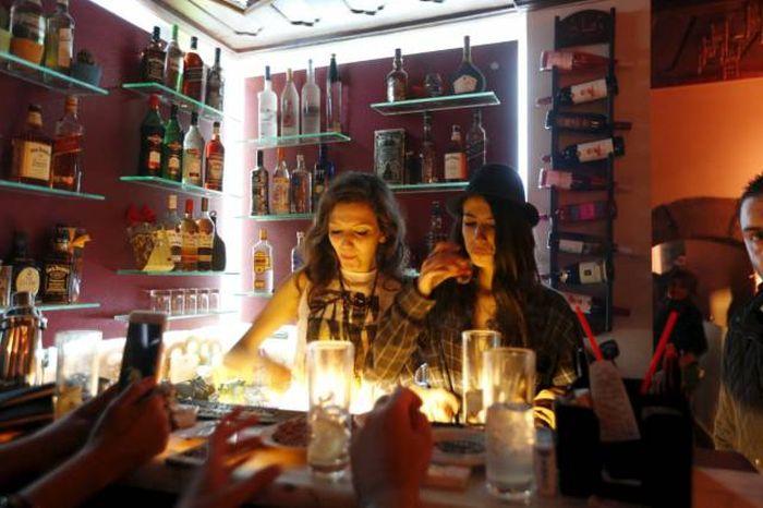 Ночная жизнь молодежи в современном Дамаске (15 фото)