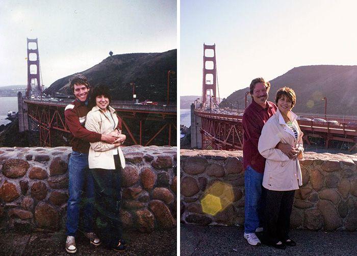 Влюбленные пары, прошедшие испытания временем (25 фото)