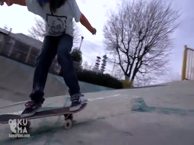 Невероятные трюки 12-летнего скейтбодиста Исаму Ямамото
