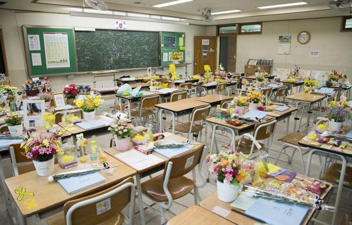 Класс-мемориал в южнокорейской школе (11 фото)
