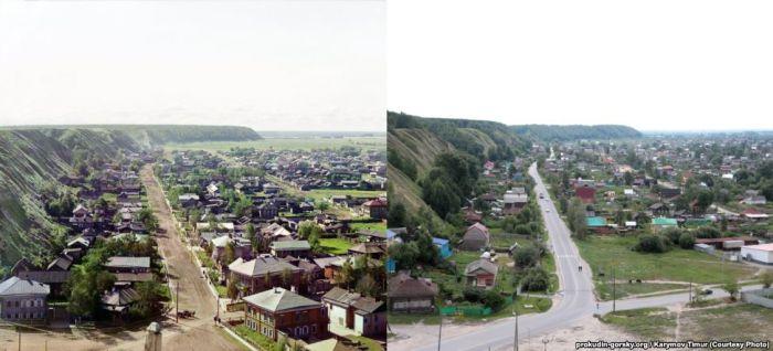 Путешествие по местам фотосъемки 100-летней давности (31 фото)