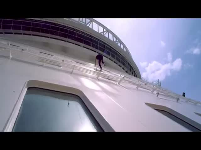 Паркур на самом большом в мире круизном лайнере