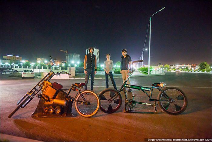 Чеченские заниженные велосипеды (9 фото + видео)