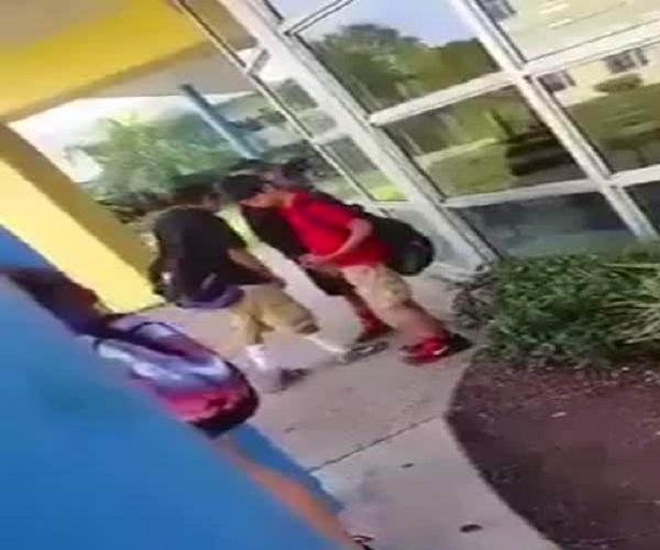 Школьный забияка не на того нарвался