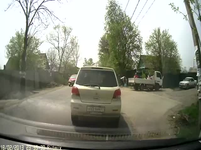 ДТП с наглым водителем в Хабаровске