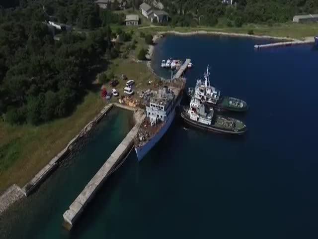 У берегов Хорватии затопили корабль президента Югославии Броза Тито