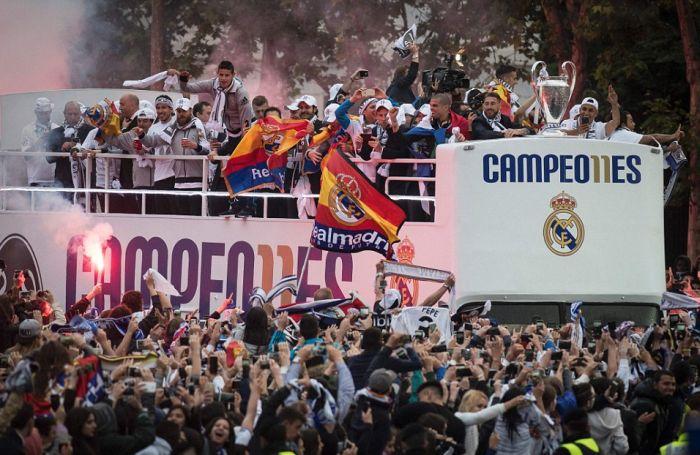 Парад в честь победы «Реал Мадрид» в Лиге чемпионов (21 фото)